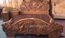 Giường ngủ gỗ gõ đỏ tại Tphcm